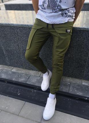 Карго штаны мужские lc хаки
