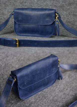 Женская сумка на плечо из натуральной винтажной кожи crazy hor...