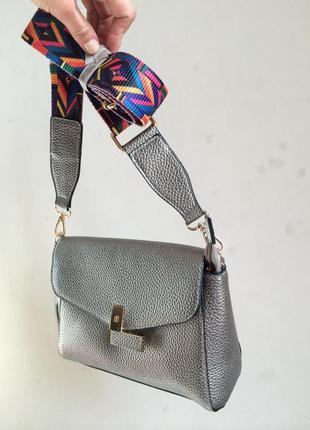 Клатч сумка серебряный есть цвета