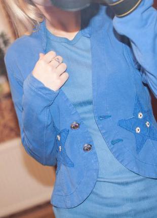 Пиджак стильный трикотажный