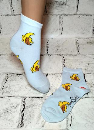 Носочки детские для девочки, принт банан, 10-12 лет
