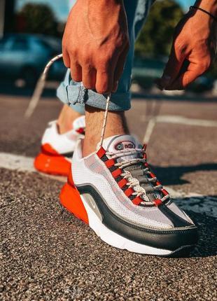Стильные мужские кроссовки nike air max серые