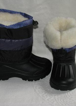 Детские дутики сноубутсы зимние, не промокают, 19 cм