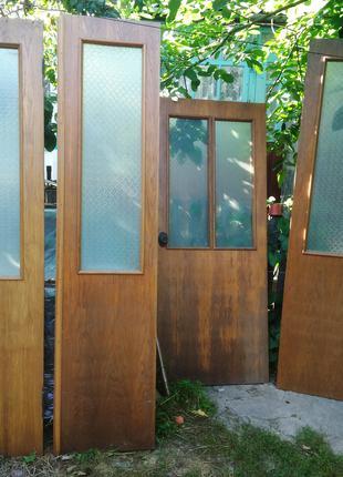 Двери шпонированный массив бу