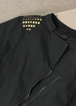 Пиджак чёрный куртка с пайетками