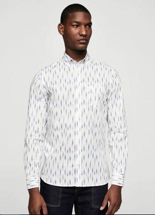 Рубашка мужская mango с длинным рукавом, р. xs