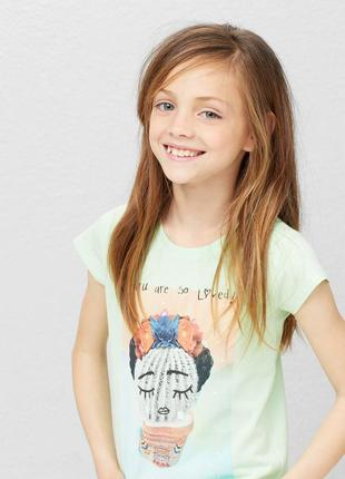 Стильные футболки mango для девочек