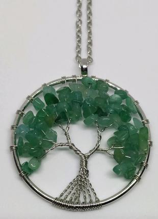 Кулон с натуральными камнями / Кулон в форме дерева