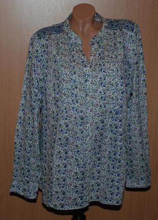 Блуза принтованая брендa marks & spencer /100%хлопок/