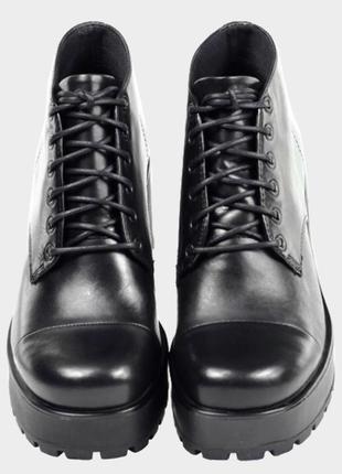 Ботинки кожаные (кожа натуральная) на толстом каблуке vagabond...