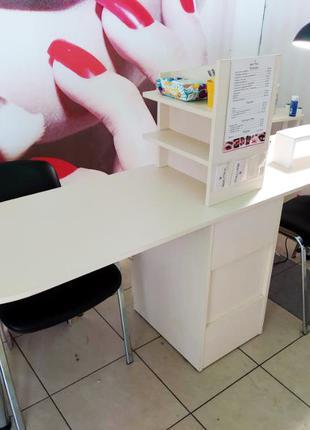 Манікюрний стіл для двох майстрів +подарунок чохол