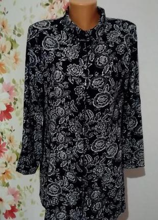 Красивенная свободная блуза туника цветочный принт sale