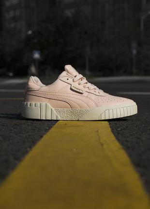 Трендовые женские кроссовки puma cali pink пудровые