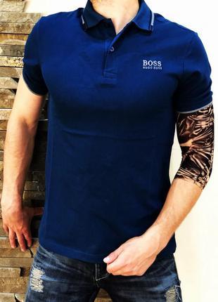 Поло hugo boss classic blue