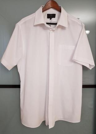 Брендовая рубашка marks and spencer с коротким   рукавом