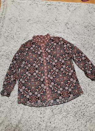 Рубашка, блуза, блузка, цветочный принт