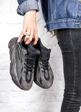 Шикарные женские кроссовки adidas yeezy boost 700 v2 vanta bla...