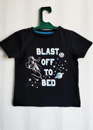 Футболка черная детская pepco 5 лет