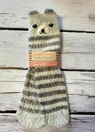 Носки теплі теплые мягкие пухнасті пушистые с ушками