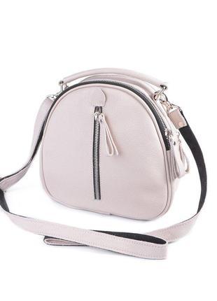 Сумка трансформер, сумка-рюкзак из натуральной кожи на длинном...