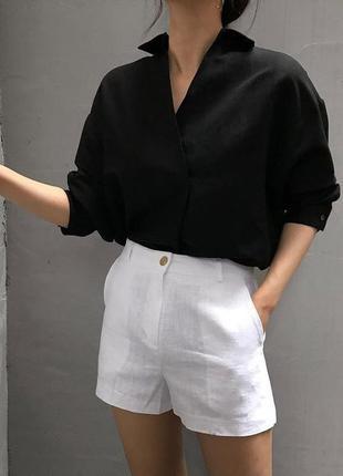 Базова чорна сорочка з шнурівкою на замку з італії!🇮🇹базовая ч...
