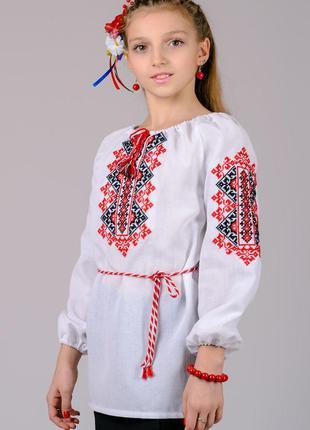 Детская вышиванка для девочки, сорочка