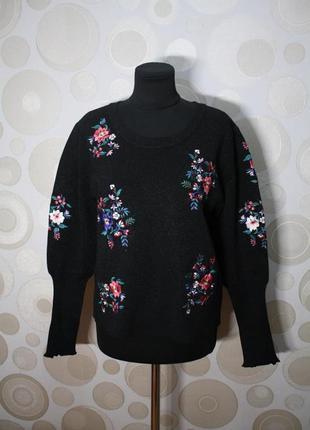 Джемпер свитер с вышивкой morgan p. м-l