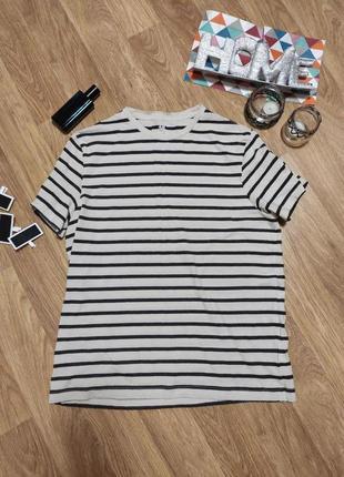L/ футболка хлопок мужская в полоску