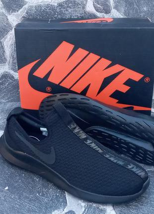 Мужские кроссовки nike free run сетка,черные,летние