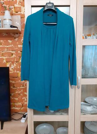Интересное тёплое платье большого размера