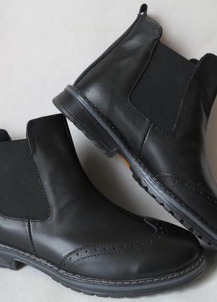 Мужские стильные ботинки timberland челси натуральная кожа окс...