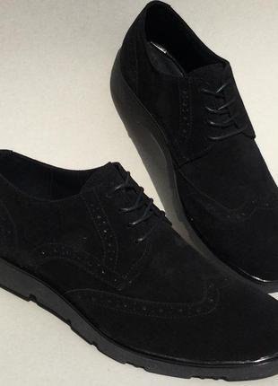 Мужские кожаные туфли броги оксфорд