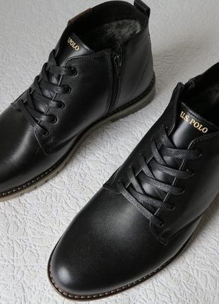 Супер классика!  стильные поло polo мужские зимние ботинки кож...