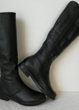 Женские зимние сапоги limoda по колено со змейкой еврозима чер...