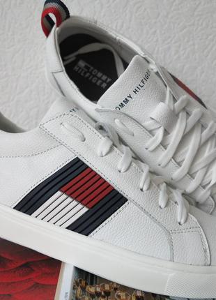 Кожаные белые кеды! туфли мужские кроссовки