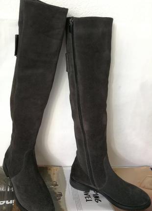 Fabiani style! женские замшевые ботфорты зимние высокие сапоги...