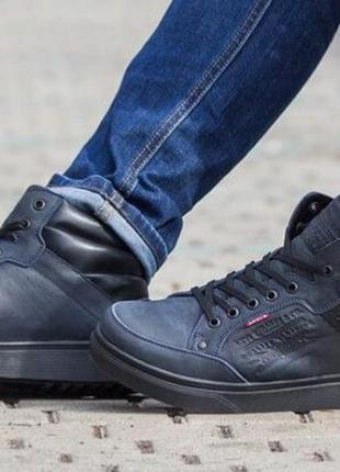 Стиль! мода! levis 3 зимние мужские ботинки натуральная кожа l...