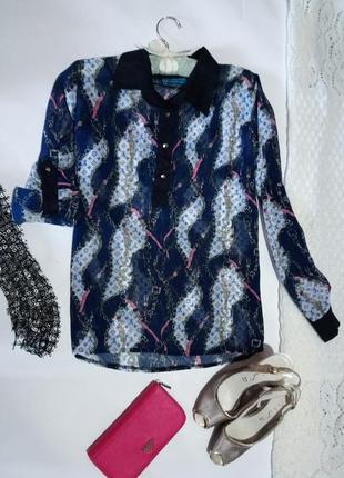 Рубашка ,блуза 👚 стильный принт . m-l