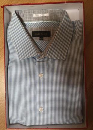 Модная мужская  приталенная брендовая рубашка