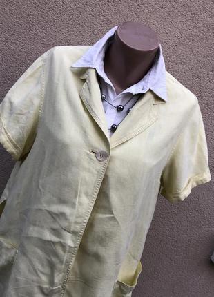 Винтаж,желтый лен жакет,пиджак,кардиган,рубашка,блуза,max mara...
