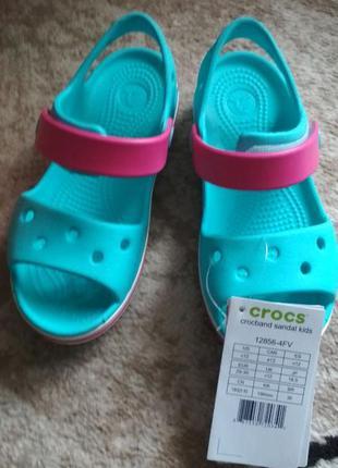Детские босоножки крокс, crocs, сандали, crocband sandal kids