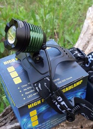 Яркий налобный LeD фонарь Bailong Police BL-2188B фонарь на ры...