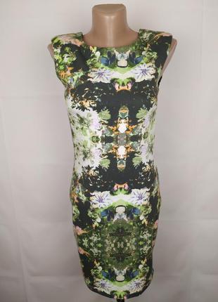 Платье стильное трикотажное в принт vero moda s