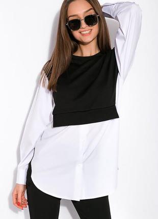 Рубашка-батник в стиле casual 103p472