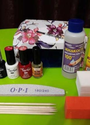 Стартовый набор для покрытия ногтей гель-лаком 2
