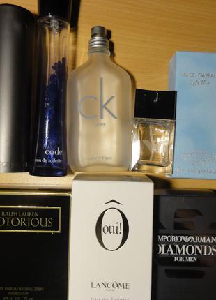 Коробочки( упаковки) и флаконы брендовой парфюмерии.Всё оригинал!