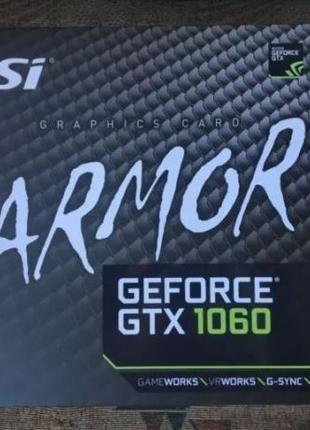 MSI GeForce GTX 1060 ARMOR 6G OCV1 Видеокарта