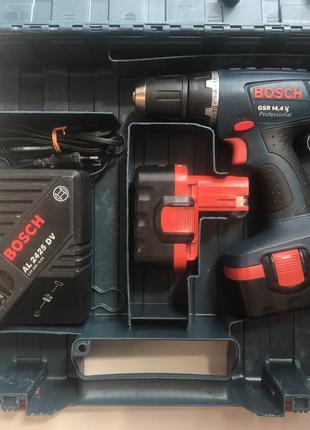 Шуруповёрт BOSCH GSR 14,4 V Professional. Аккумуляторный.
