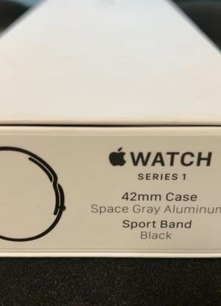Apple Watch Series 1 42mm и 38mm Space Gray Black Sport Band (...