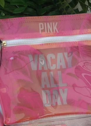 Pink victoria's secret косметичка виктория сикрет